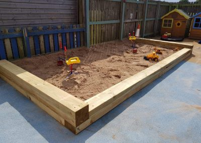 Our large outdoor sand pit